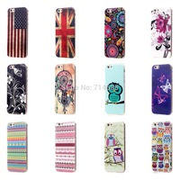 """Fashion Jellyfish Butterfly Flower Polka Dots Owl Zebra Soft Protector Phone Cover Pouch for 5.5"""" Apple iPhone 6 Plus Case Bag"""
