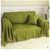 100% high quality cotton solid full sofa covers for home hotel used double seat