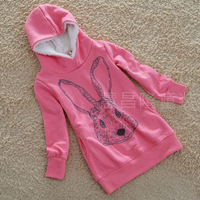 3 ~ 7age Autumn new Korean long paragraph Sweatshirts girls  Children's long-sleeved hooded cartoon images
