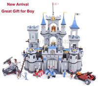 Enlighten Building Blocks Toy Lion Castle Knight Series Construction Sets Educational Hot Toy for Children Model Building Gift