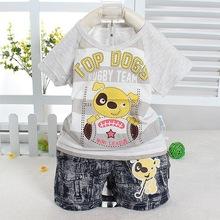 envío gratis baby80 vender como pan caliente moda el nuevo 2014-10 algodón de dibujos animados manga corta dos- traje pieza(China (Mainland))