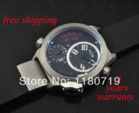 free shipping Welder by K32 Triple Time Zone Black Ion-Plated Steel Mens Watch K32-9201 Watch