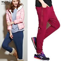 New 2014 Autumn Winter Plus Size Fashion Harem Pants Casual Thicken Trousers Full Length Sweatpants Women Sport Pant 2097