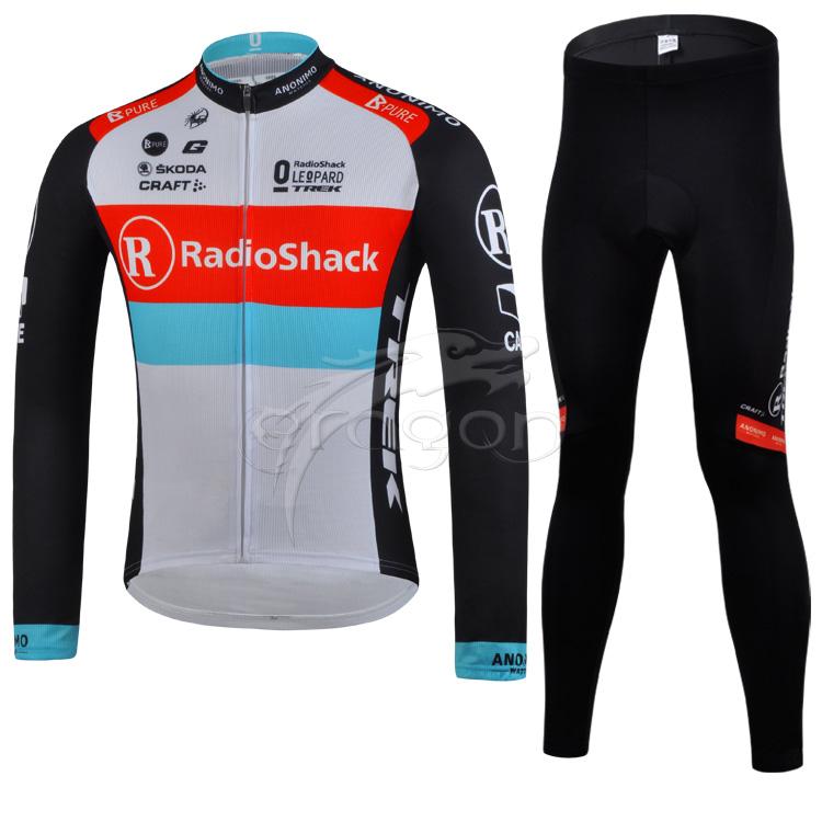 2015 Radio Shack tour cyclisme Biker Suit manches longues Jersey et pantalon(China (Mainland))