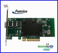 Femrice 10Gbps Single Port Fiber Optical Ethernet Network Card Black Heat Sink NIC
