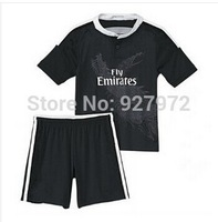 14/15 Real Madrid soccer jersey for kids 2015 Home Away young football kits KROOS RONALDO BALE James CHICHARITO children shirt