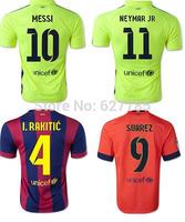 2015 Player I. RAKITIC Messi Neymar Jr SUAREZ XAVI INIESTA Soccer Jersey 14 15 Camiseta Home Away Third Green Champion Shirt