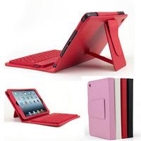 Free shipping  Bluetooth 3.0 Keyboard PU Stand Case Cover Stylus For Apple iPad mini mini retina 2