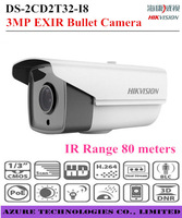 new 2014 Original HIKVISION 3MP IR Mini EXIR Bullet Outdoor Network Camera waterproof  infrared 80M support POE IP66 IP camera