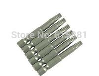 (10pcs/lot) S1/4*60*T10 Pneumatic screwdriver head Torx T10 Screwdriver Bits