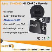 "SUNCO SV-MD600 HD 2.7"" LCD Car camera Novatek Video recorder Night Vision dashboard Camera with G-Sensor electronics for cars"
