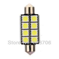 42mm 8 SMD 5050 Pure White Dome Festoon CANBUS No Error Free Car LED Light Bulb C5W