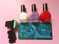 latest Nail Art  Stamping plates 3 Polish +2 Templates+1 stamp