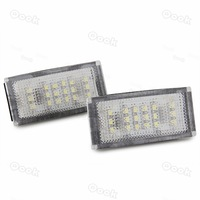 2x White 18 LED 3528 SMD Number License Plate Light Rear Lamp for BMW E46 2D