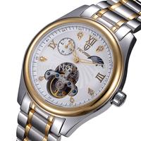 Sapphire Mirror Relogio Moon Phase Military Luxury Watch Men Skeleton Automatic Mechanical Watch TEVISE Tourbillon Men Watches
