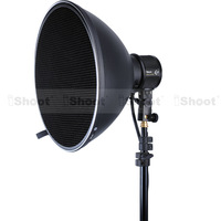 "iShoot 14"" Studio Flash Radar Reflector Sofbox Beauty Dish + White Diffuser + Honeycomb Grid for COMET Monolight Stobe -HOT ITEM"