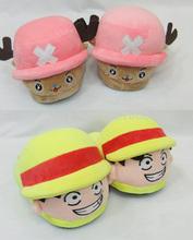 2 Arten tonytony. Chopper niedlich cosplay kostüm affe d luffy einem stück weichen pantoffel Haus innen schöne weichem plüsch hausschuhe(China (Mainland))