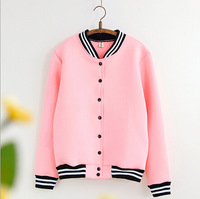 New 2015 British style casual coat patchwork striped collar cotton blend thick warm jacket long sleeve baseball clothing jackets