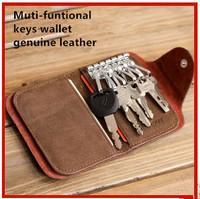New fashion men key holder genuine leather women wallet casual bag purse design car key holder for men  drop shipping