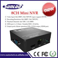 1*HDMI / VGA video output connect ip camera onvif 3G wifi 8ch full hd p2p mini nvr 8 channel