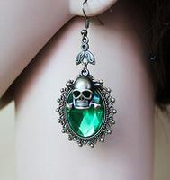 European and American Gothic Halloween skull retro earrings,coin earrings,vintage earring