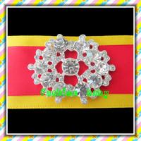 wholesale high quality shiny rhinestone brooch for wedding invitations