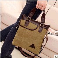 Factory sale canvas men's shoulder-slung portable canvas men handbag vertical Messenger bag