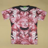 2014 Newest tops tees famous fahion stars Marilyn Monroe Celebrity woman o-neck short sleeve women funny 3d print TShirt t shirt