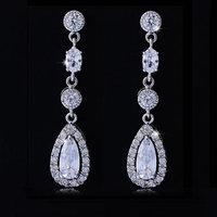 Hot Classic AAA CZ Earrings Fashion Woman Drops Earrings