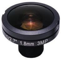 3.0Megapixel 1.8mm Fisheye Lens 1/3.6 Image Format M12*0.5 Mount