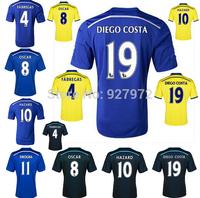 Top!Thai Quality 14/15 Chelsea Soccer Jersey 2015 Chelsea FC DIEGO COSTA OSCAR FABREGAS HAZARD WILLIAN Chelsea 2015 Jersey