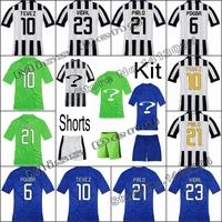 2015 Juve Home&Away Player version Soccer Jersey Juve 14 15 Pirlo Tevez VIDAL POGBA custom Jerseys Football Shirt Free shipping