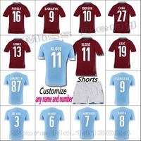New Lazio 14 15 Home&Away Jersey Lazio Red & Blue Lazio 2015 KLOSE jersey KEITA BALDE L BIGLIA KLOSE CANDREVA RADU LEDESMA MAURI