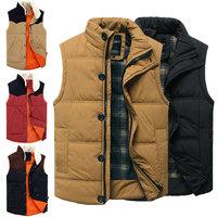 Patchwork winter vest men mens slim fit vests fashion man waistcoat down cotton Korean Style Down Cotton Colete Sleeveless XXXL
