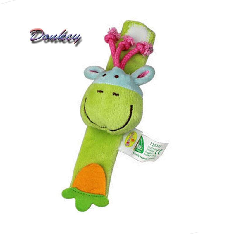 expedição a1free brinquedos do bebê novo chegada chocalho do bebê brinquedos para bebés jardim bug multi cor wrist chocalho brinquedos burro design(China (Mainland))