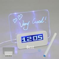 New LED luminous Luminova Message Board Digital Alarm Clock With Calendar Despertador FREE SHIPPING Christmas Birthday gift