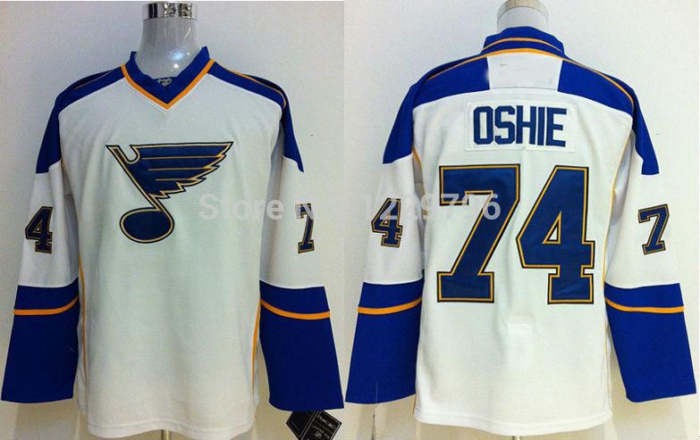 Good Quality Hot Sale!!!Wholesale St. Louis Blues Hockey Jerseys #74 T.J. Oshie Jersey Men's Home Royal Blue Road White Cheap TJ(China (Mainland))