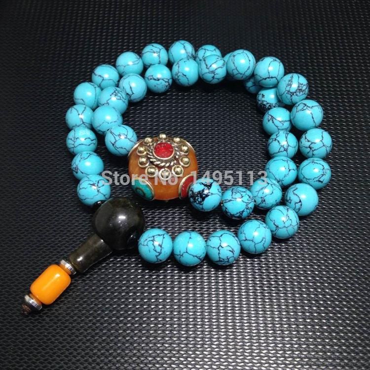 Nepal turquoise beads bracelets(China (Mainland))