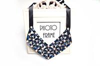 New trendy black blue acrylic beadwork statement choker collar necklace for women christmas gift NL-234
