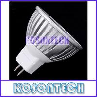 Free Shipping 2PCS 12V 3x1W MR16 LED Light 300LM White Spot Lamp Bulb 6500-7000K KS288