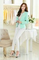 Spring autume new 2015 korean women coat jackets solid Slim Jacket Occupation blazer feminino clothes chaquetas mujer