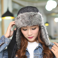 Free shipping The new 2014 men and women of outdoor thickening earmuffs warm hat Winter masks lei feng's hat