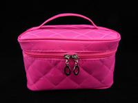 New Women Cosmetic Bag Travel Makeup Make up Storage Organizer Box Beauty Case Fashion Hot Pink