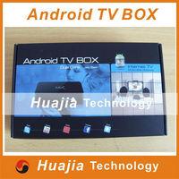 1pc Original MX TV Box Android 4.2.2 MX2 Dual Core XBMC Midnight GBOX 1GB/8GB ROM Dual ARM Cortex A9 WiFi Build In Mini PC