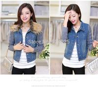 autume winter new arrival 2015 korean women coat fur Denim jackets Occupation blazer feminino clothes chaquetas mujer tops
