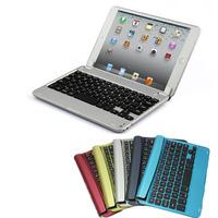 Free shipping Slim Aluminum Bluetooth Wireless Keyboard Holder Case Cover for Apple iPad Mini