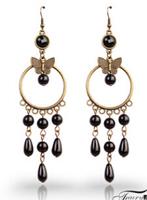 European and American minimalist retro bronze Butterfly Earrings,coin earrings,vintage earring