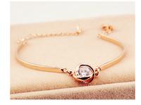 2014 new fashion personality temperament simple wild romantic twist wrapped round zircon bracelet    S6012