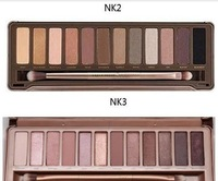 Free shipping make up set ( 2PCS /LOT) nk3 and nk 2 palette Eye shadow 12colour palette eyeshadow wholesale