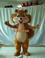 Hot sale 2014 Adult Plush Squirrel Animal Mascot Costumes Halloween Cartoon Party Outfits Fancy Dress